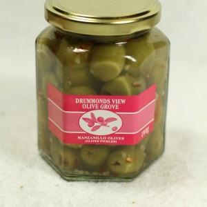 Stuffed Olives - Garlic & Chili (200 g. jar)