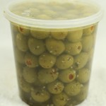 Stuffed Olives - Garlic & Basil (840 g. tub)