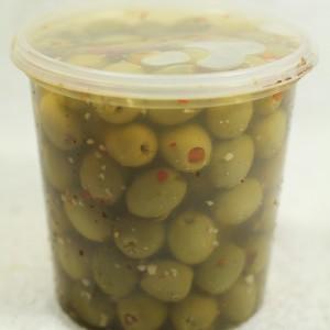 Stuffed Olives - Garlic & Chili (840 g. tub)
